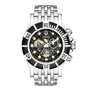 Stainless Steel Gents Bulova Accutron Kirkwood Quartz Chrono Watch_Justice Jewelers